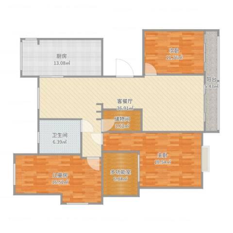九龙华府3室2厅1卫1厨149.00㎡户型图