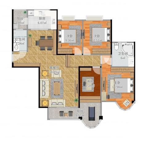 合生滨海城4室2厅2卫1厨136.00㎡户型图
