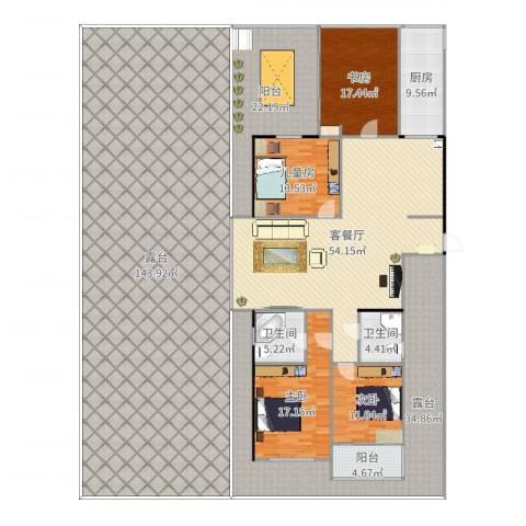 晶御中央御府4室2厅2卫1厨423.00㎡户型图