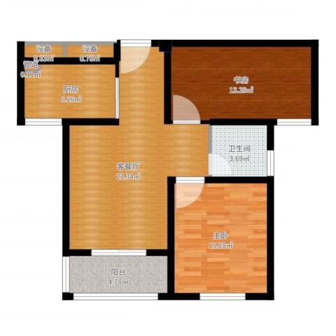 嘉业・阳光城2室2厅1卫1厨83.00㎡户型图