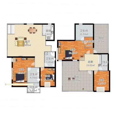 马陆清水湾公寓4室1厅5卫1厨333.00㎡户型图