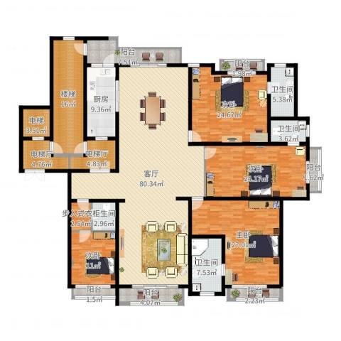 上海星河湾4室1厅4卫1厨308.00㎡户型图