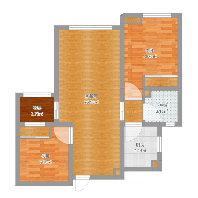 新华城   两室两厅
