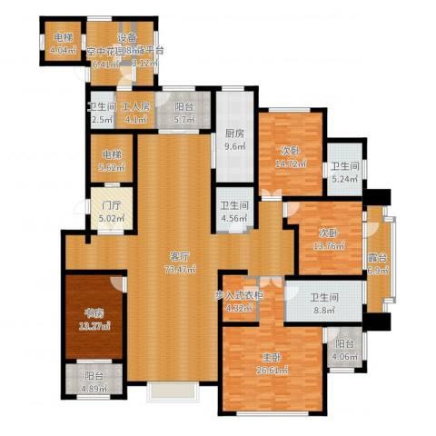 新源燕府4室1厅4卫1厨285.00㎡户型图