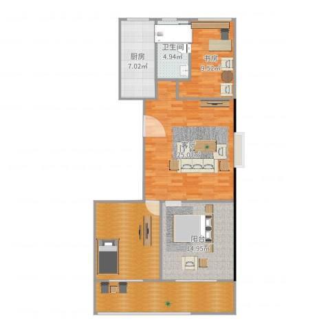 阳光・城市花园1室1厅1卫1厨108.00㎡户型图
