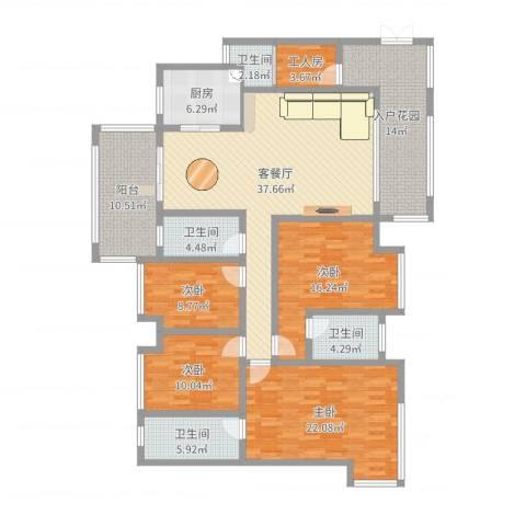 景源公园一号4室2厅4卫1厨183.00㎡户型图