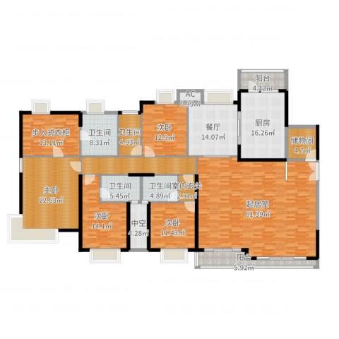 中海银海湾4室1厅4卫1厨278.00㎡户型图