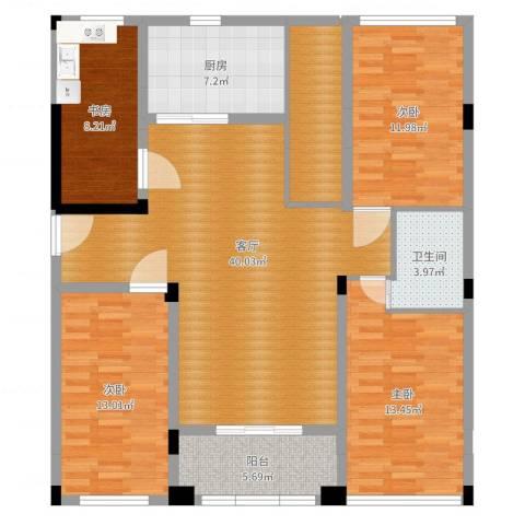 南太武高尔夫澎湖湾4室1厅1卫1厨129.00㎡户型图