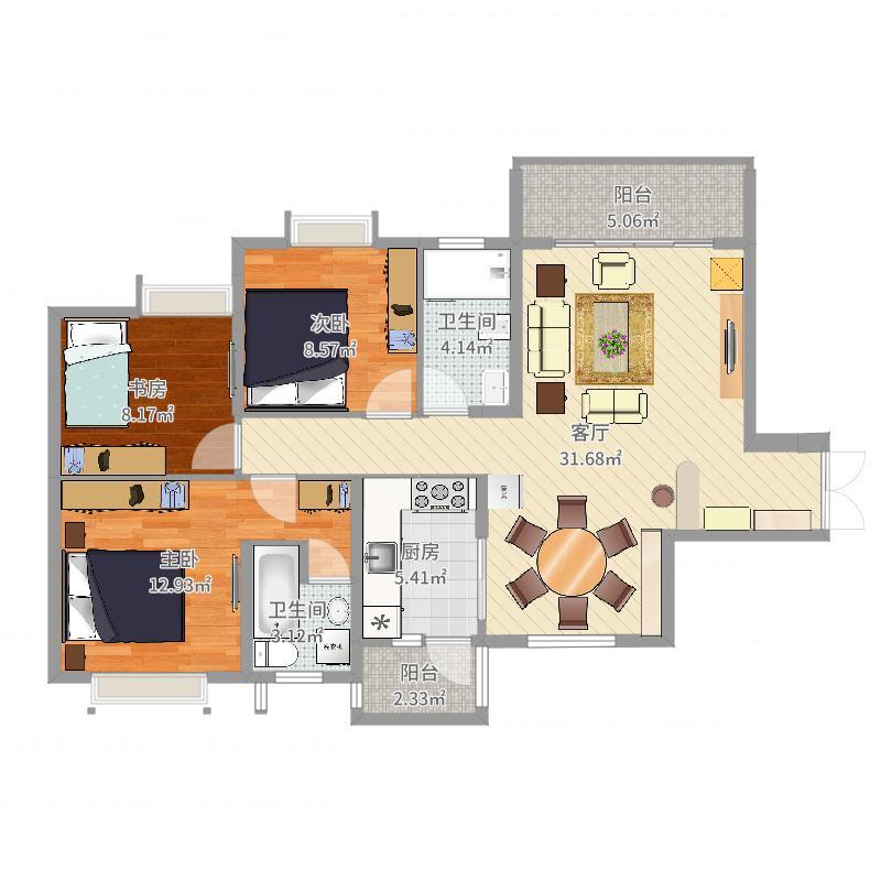 轩汇豪庭20栋02房平面图
