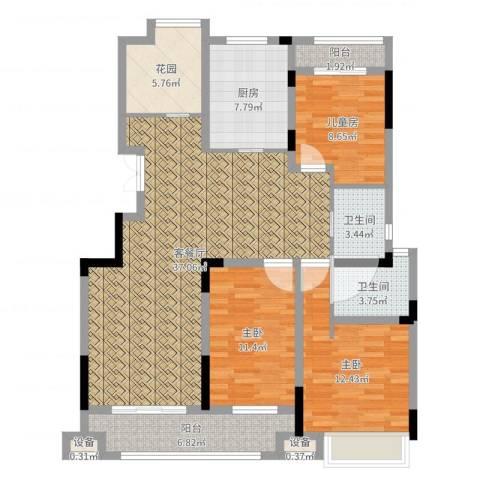 虎豹郡王府4室2厅4卫1厨125.00㎡户型图