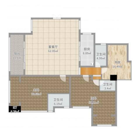 依云上城3室2厅5卫2厨229.00㎡户型图