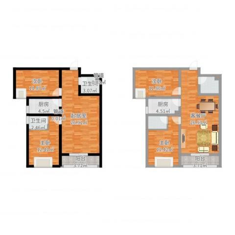 翠堤春晓4室2厅4卫2厨162.00㎡户型图