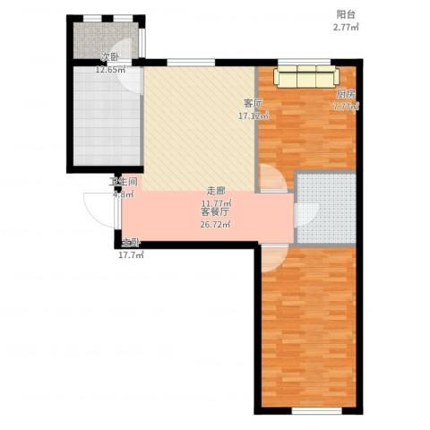 上庄・三嘉信苑2室2厅1卫1厨101.00㎡户型图