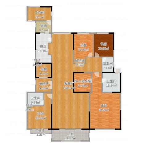 中海紫御豪庭4室2厅3卫1厨501.00㎡户型图