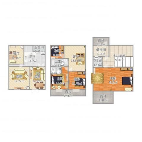 杨王苑501弄4室4厅4卫1厨199.65㎡户型图