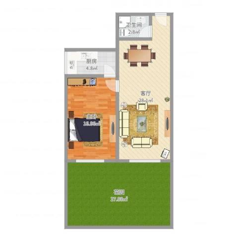 羊城花园1室1厅1卫1厨101.00㎡户型图