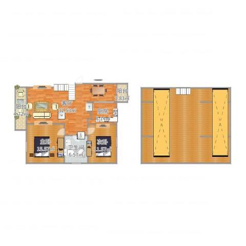 滨浦新苑2室1厅1卫1厨187.00㎡户型图