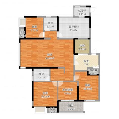 高成莱茵郡1室1厅7卫2厨157.00㎡户型图