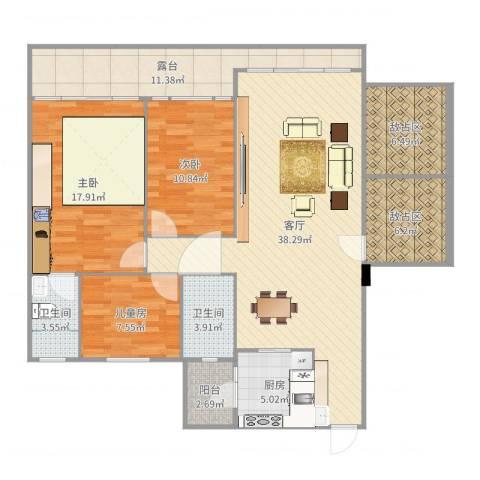 盈彩美地4室1厅3卫1厨142.00㎡户型图