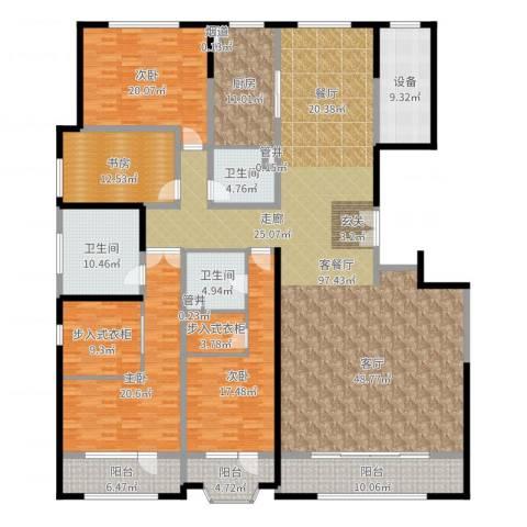 保利海德公园4室2厅3卫1厨304.00㎡户型图