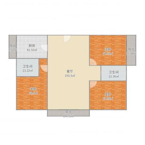 丹桂花园南苑3室1厅2卫1厨645.00㎡户型图