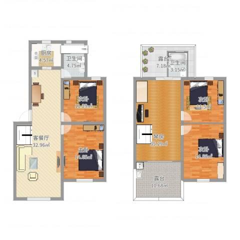 杉湾花园4室2厅2卫1厨175.00㎡户型图