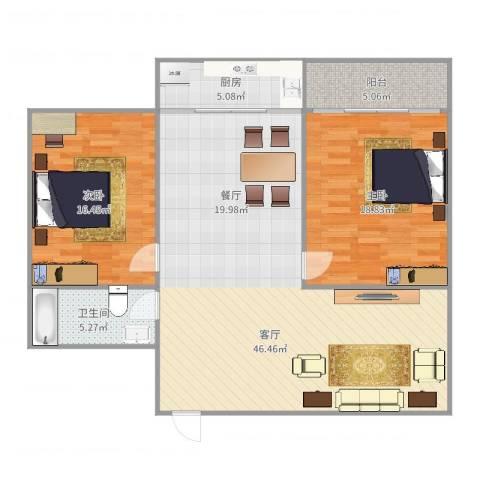 师范小区16-2-1022室1厅1卫1厨121.00㎡户型图