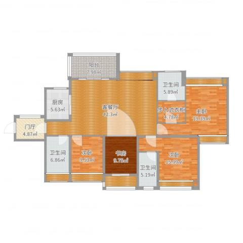西湖怡景园4室2厅6卫6厨191.00㎡户型图