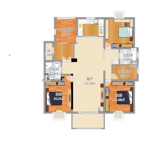 东苑古龙城2室1厅3卫2厨166.00㎡户型图