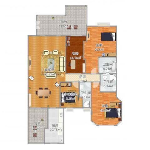 水悦城邦3室2厅3卫1厨217.00㎡户型图