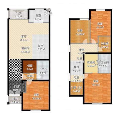 提香草堂5室2厅3卫1厨226.00㎡户型图