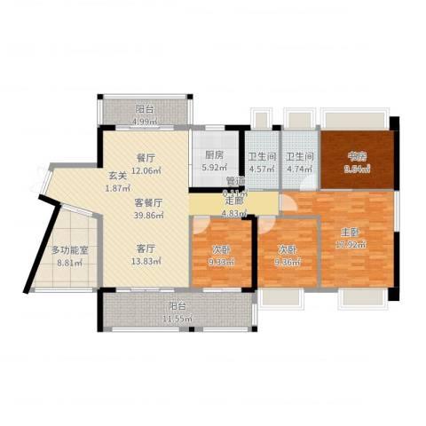 优越香格里4室2厅3卫1厨159.00㎡户型图