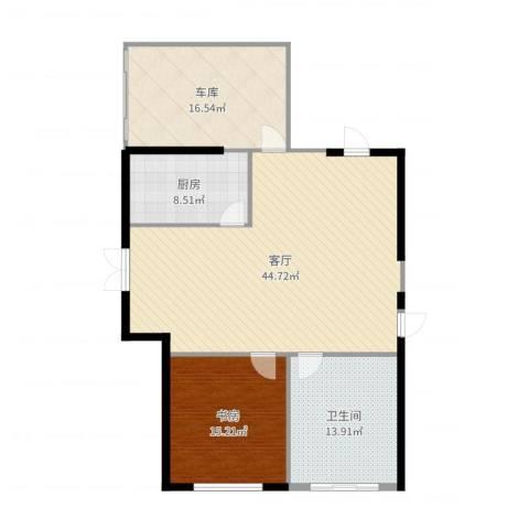 威尼斯水城别墅1室1厅1卫1厨124.00㎡户型图