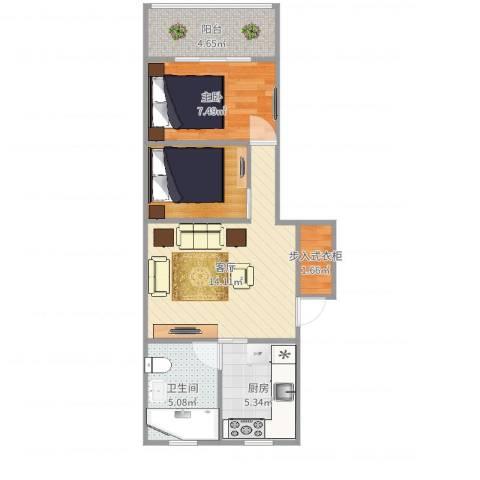 古美西路316弄小区1室1厅1卫1厨55.00㎡户型图