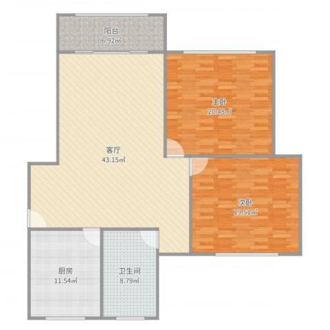 古美西路420弄小区2室1厅1卫1厨138.00㎡户型图