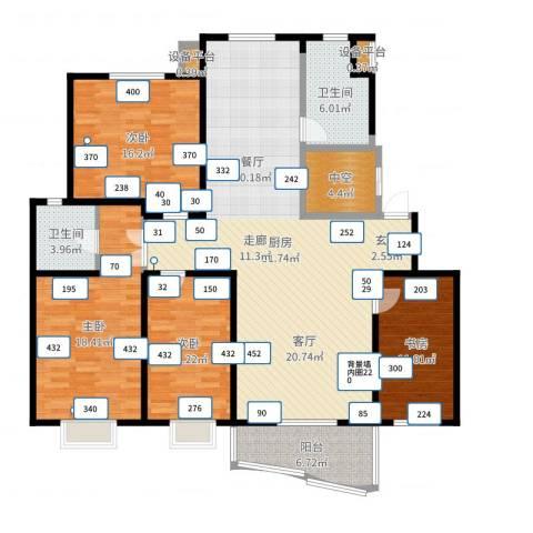 恒通花园4室1厅4卫1厨164.00㎡户型图