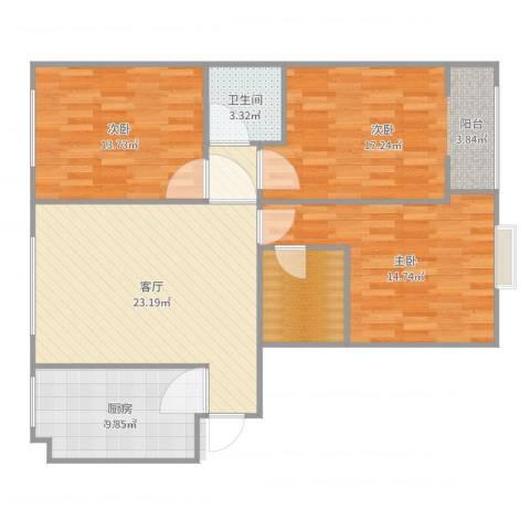 御庭华府15-2-263室1厅1卫1厨109.00㎡户型图