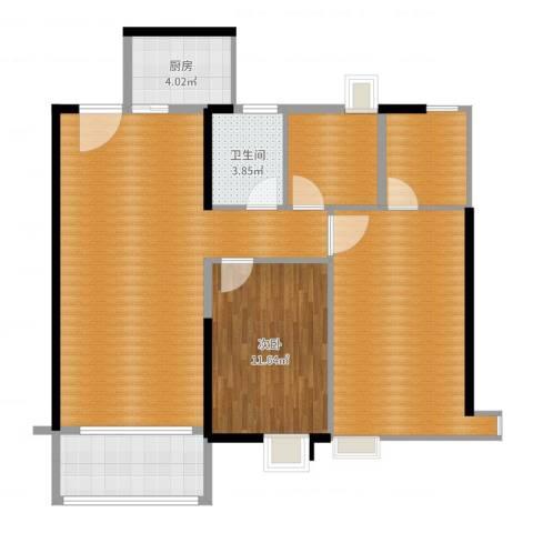 聚龙湾2室1厅3卫1厨102.00㎡户型图