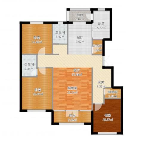 金安向日葵1室1厅2卫1厨135.00㎡户型图