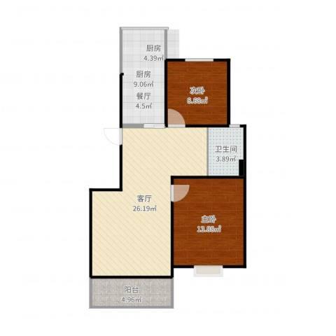 松江世纪新城2室1厅1卫1厨83.00㎡户型图
