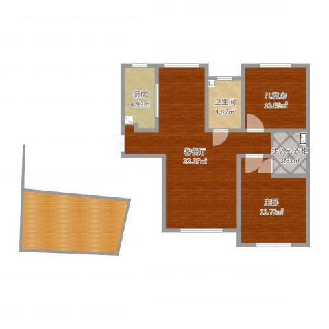 威廉公馆2室2厅1卫1厨107.00㎡户型图