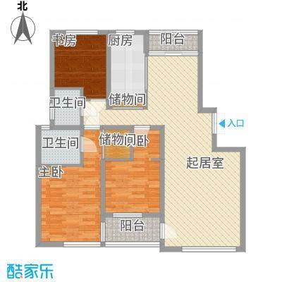 大唐花苑118.00㎡大唐花苑3室户型3室