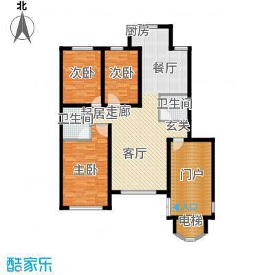 鸿博锦绣花园128.00㎡鸿博锦绣花园128.00㎡3室2厅2卫1厨户型3室2厅2卫1厨