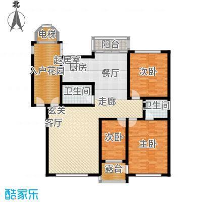 鸿博锦绣花园157.00㎡鸿博锦绣花园157.00㎡3室2厅2卫1厨户型3室2厅2卫1厨