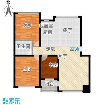 鸿博锦绣花园128.00㎡鸿博锦绣花园128.00㎡3室2厅1卫1厨户型3室2厅1卫1厨