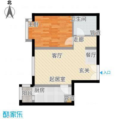双花园西里户型1室1厅1卫1厨