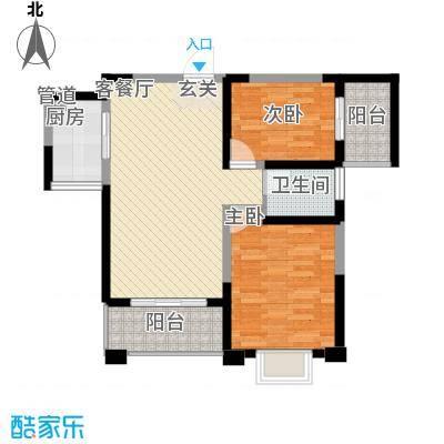 长江绿岛88.00㎡长江绿岛88.00㎡2室户型2室