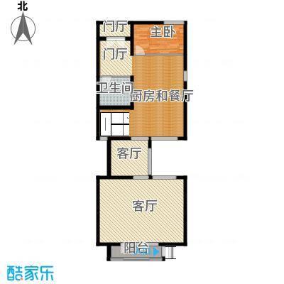 领秀新硅谷别墅115.89㎡独栋别墅一层户型1室2厅1卫