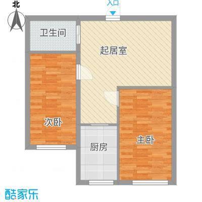 亿隆富贵名苑75.29㎡一期高层户型2室1厅1卫