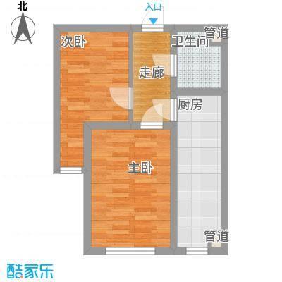 亿隆富贵名苑54.00㎡高层户型2室1卫